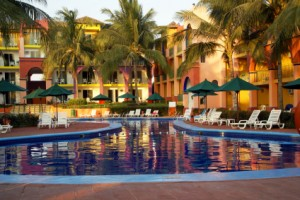 Mexican Resort Pool in early evening